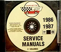 A MUST HAVE MANUAL FOR OWNERS, MECHANICS & RESTORERS - THE 1986 & 1987 CORVETTE FACTORY REPAIR SHOP & SERVICE MANUAL On CD...