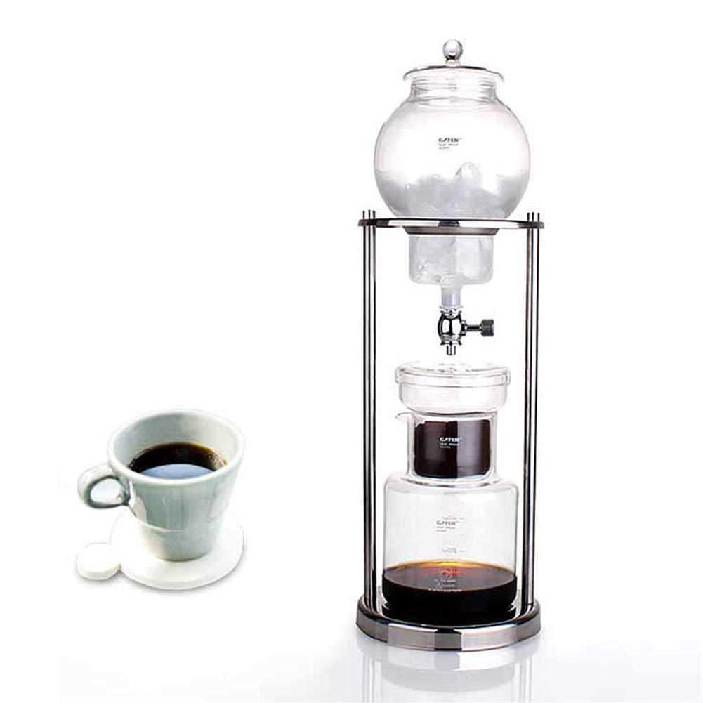 Frío gotas de café con filtro de cristal, cafetera de espresso Dripper Cold Brew para café frío, 600 ml: Amazon.es: Hogar