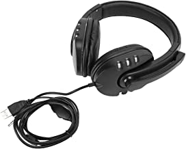 Socobeta Head‑Mounted Headset Omni‑Directional Headphone 3.5mm+USB Skin‑Friendly Ergonomic with Microphone for Gaming