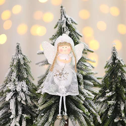 95sCloud, 1 Pezzo Ciondolo per Albero di Natale, Angelo Custode, angioletto Natalizio, Ciondolo Portafortuna, Natale, Decorazione per Albero di Natale, Ciondolo per Regali, Portafortuna, a