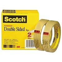 """- - - - - - -両面テープ、3/ 4"""" x 1296、"""" 3""""コア、透明、2/ Pack"""