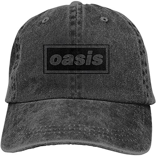 'N/A' SBLB Unisex Oasis Band Music Logo Popular Adulto Ajustable Denim Cowboy Sombrero Casqueta
