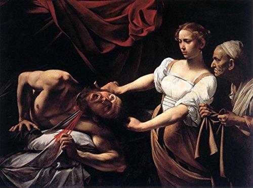 "Judith Beheading Holofernes by Michelangelo Merisi Da Caravaggio - 16"" x 20"" Premium Canvas Print"