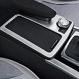DIYUCAR Cadre porte-gobelet pour console centrale de voiture en ABS argenté mat pour Benz Classe E W212 Coupé W207 C207
