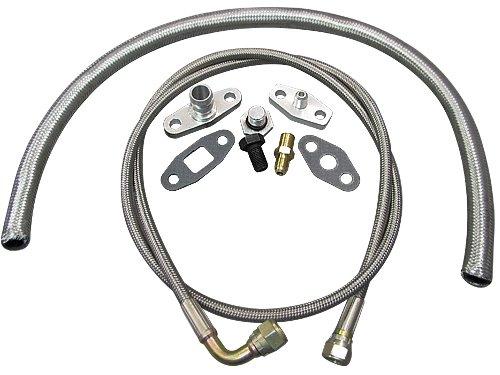 Turbo Oil/Water Line Feed Drain Fitting Line Kit For RB26DETT RB26 240SX S13 S14