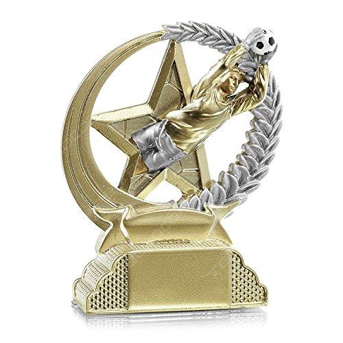 tecnocoppe Trofeo Calcio Portiere h 13,00 cm Premiazione Targhetta Personalizzata Omaggio