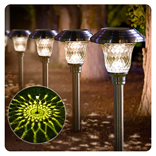 BEAU JARDIN 8 Pack Solar Lights Bright Pathway Outdoor Garden