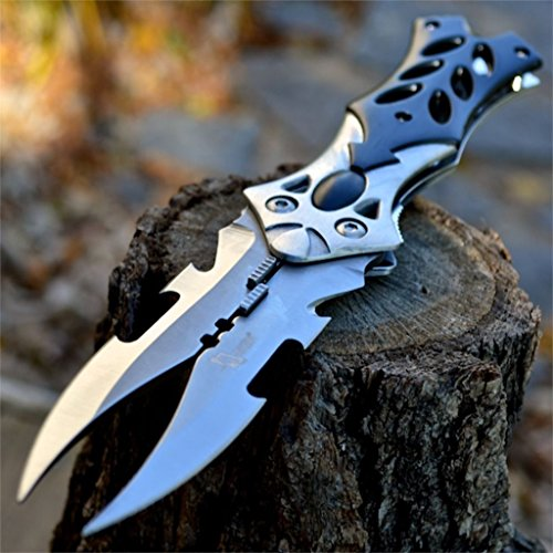 "NEW ARRIVAL! 8.5"" Dual Twin Blade Fantasy Cosplay Folding Pocket Knife Tactical Combat Dragon"
