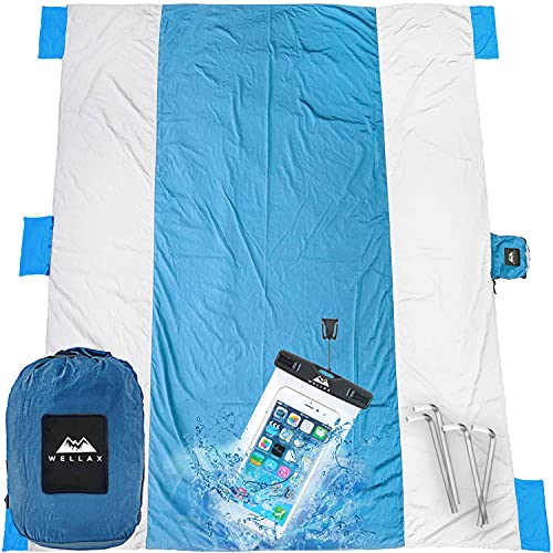 best large beach blanket, huge 90 square feet coverage from Wellax