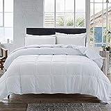 Cosybay Down Alternative Comforter- White Corner Duvet Tabs- Lightweight All Season Duvet Insert-Stand Alone Comforter – Full Size(82×86 Inch)