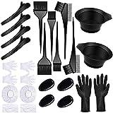 22 piezas de tinte para el cabello Kit de teñido de peluquería herramientas cepillo peine cubierta de oído