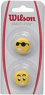 Wilson Tennis Vibration Dampener for Rackets, Emoti-Fun, 2 Pack, Sun Glasses/Surprised, Yellow