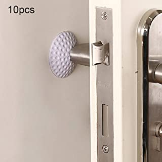 Junna Sizing: 5 1cm, Random Vividness Delivery, 10 PCS Galosh Door Handle Mute Wall Pad Anti-Collision Pad Household Supplies