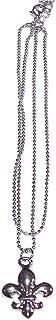 V G S Eternity Fashions Fashion Jewelry ~ Silvertone Fleur De Lis Anklet (Anklet 074 86)