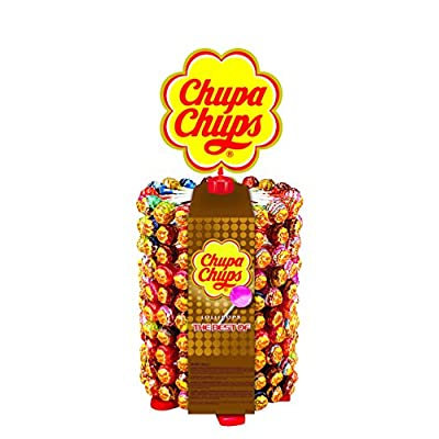 chupa chup's 180s lollipop plus 20 lollipops for free | lollipop stand with 7 delicious flavors, (200 x 12 g) Chupa Chup's 180s lollipop plus 20 lollipops for free | Lollipop stand with 7 delicious flavors, (200 x 12 g) 51OAWfcIygL