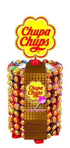 Chupa Chups 180er fiets plus 20 Lollis gratis | Lollipop-standaard met 7 lekkere smaakingen, (200 x 12 g)
