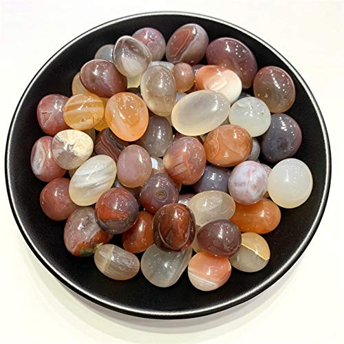 ZZLLFF 100g Naturale Tumbled Carnelian Crystal Red Ghiaia Agata Pietre Wicca di impianto Acquario Fish Tank Fai da Te Materiale (Color : 100g 20 30mm)