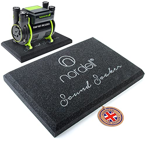 Shower Pump Noise Reduction Floor Mat - Vibration & Absorbing mat Designed for dampening unwanted Noise, Salamander, Bristan, Arley Cyclone, Monsoon, Stuart Turner, Nordell Sound Soaker