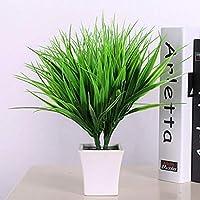 PULABO 人工フェイクプラスチック緑の草植物花オフィスホームガーデンの装飾スタイリッシュで人気のあるスペースを節約する便利なストレージ 実用的 耐久性