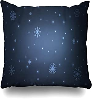 Ahawoso Throw Pillow Cover Square 20x20 Celebrate Dark Abstract Blue Layout New for Diamond Template Ice Website Snowflakes Textures Your Zippered Cushion Case Decorative Pillowcase Home Decor