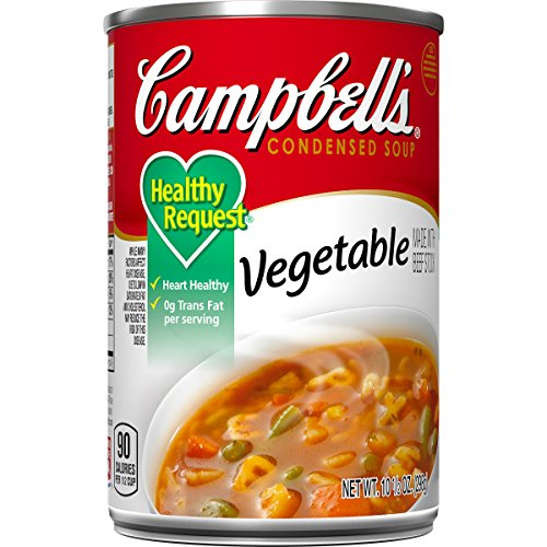 Campbell'sCondensedHealthy RequestVegetable Soup, 10.5 oz. Can (Pack of 12)