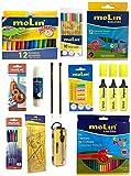 Pack Material Escolar. Articulos para dibujar. Pack ahorro material escolar Molin.Articulos para la vuelta al colegio.Todo en un Set Escolar