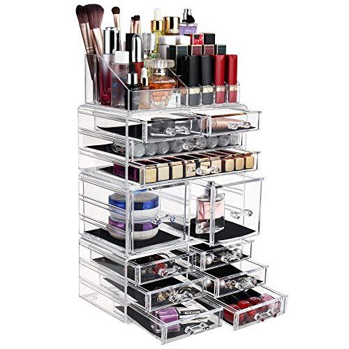 FOBUY Organisateur pour Maquillage Boîte de Rangement Cosmétiques (12 DRAWERS)