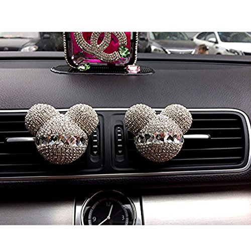 Mickey Mouse car air freshener with Ventilator, car Decorative Pendant (Silver, Purple) (Silver)