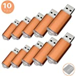 RAOYI 10PCS 4G USB Flash Drive USB 2.0 Memory Stick Memory Drive Pen Drive Orange