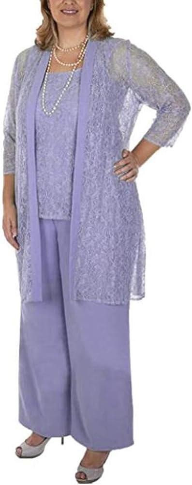 Women's 3 PC Lace Mother of The Bridal Pants Suits Dress Suit Evening Gowns