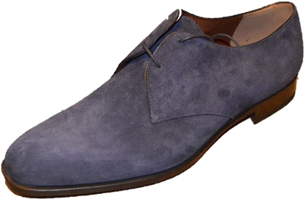 Fratelli Rossetti Men's Navy Suede Oxfords