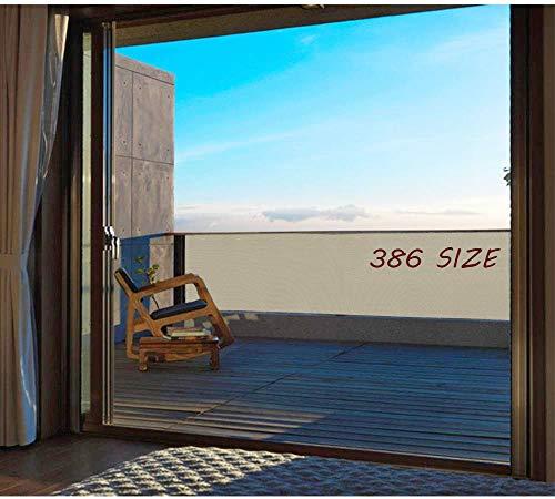 Lonas Balcon 55x950cm, Protección Visual Lona Balcon Exterior Instalación Simple y Segura para Jardín Balcón Terraza Piscina - Taupe