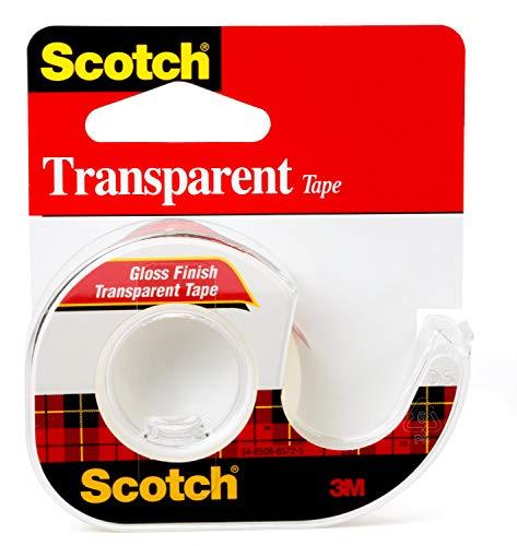 Scotch Transparent Tape, 1/2 in x 450 in, 1 Dispenser/Pack (144)