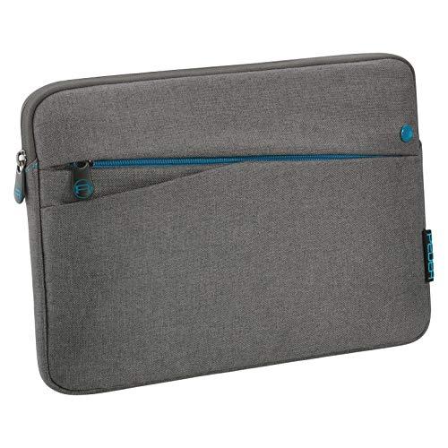 PPEDEA Tablet PC Tasche Fashion für 10,1-11 Zoll (25,6-27,96 cm) Schutzhülle Etui Case mit Zubehörfach, grau