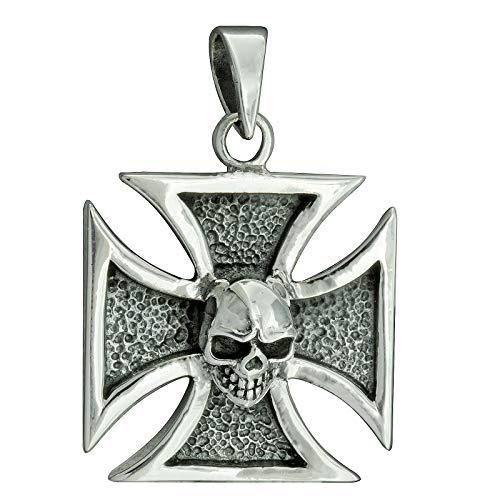 Colgante de cruz de hierro maltés Eisernes Kreuz, 8 g, plata de ley 925 BELDIAMO