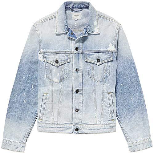 Pepe Jeans Pinner Random Chaqueta, Azul (Denim 000), Medium para Hombre