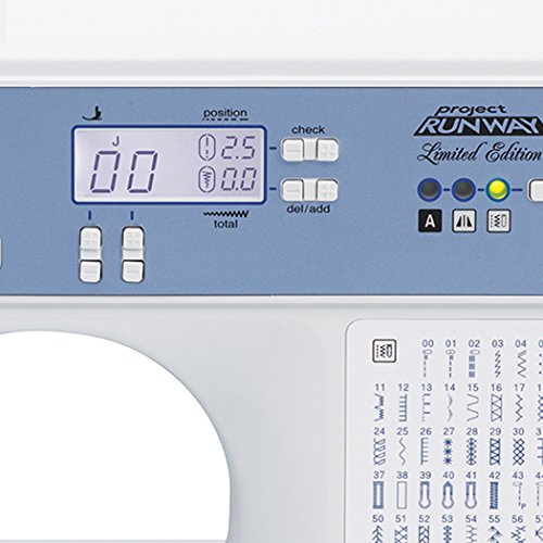 BROTHER, Computerized Sewing Machine, XR9550PRW, Project Runway Limited Edition, 110 Built-in Utility, LCD Screen, Hard Case, White