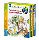 Frühling, Sommer, Herbst und Winter erleben mit Kindern: 4x Wieso? Weshalb? Warum? -Bücher im Schuber