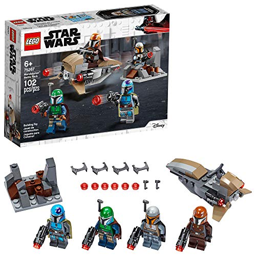 LEGO Star Wars Mandalorian Battle Pack 75267 Mandalorian Shock Troopers and Speeder Bike Building...