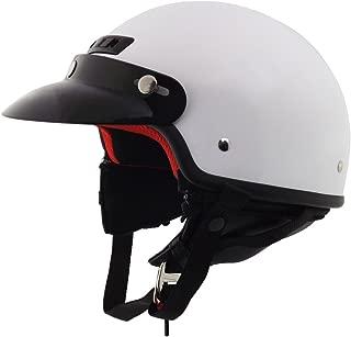 Core Helmets Deluxe Half Helmet (White, Small)