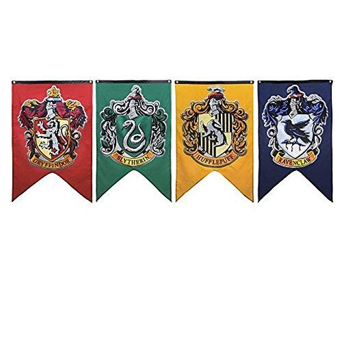 Soviton Hogwarts House Wall Banners Gryffindor Hogwarts House Flags