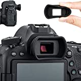 Soft Silicon Camera Viewfinder Eyecup Eyepiece Eyeshade for Canon EOS 6DM2 5DM2 6D 5D Mark II 90D 80D 77D 70D 60D 50D Rebel T8i T7i T7 T6s T6i T6 T5i T5 T4i T3i SL3 SL2 SL1 Replace Canon EB EF Eye Cup