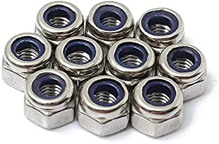 Standard Medium Carbon Steel Zinc Plated Pk 50 Nylon Insert Locknut M16 x 2.00 Coarse Thread DIN 985 Class 10 Nyloc