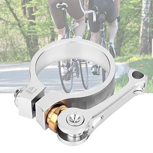 FOLOSAFENAR Accesorio para Bicicleta Clip de tija de sillín de Bicicleta Clip de Tubo de sillín de Bicicleta Aleación de Aluminio, para Bicicleta de tija de sillín de 33,9 mm / 1,3(Silver)