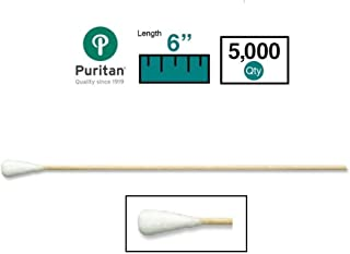 Puritan 806-WCL Extra Absorbent Large Cotton Tip Applicator, Case, 10 Boxes, 5000 Applicators, 6