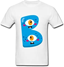 wanenkser Funny Halloween Monstruo del alfabeto B T camiseta para hombre