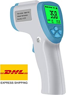 PPY Forehead Thermometer No Contact Digital Infrared Body Temporal Thermometer with Fever Alarm and Memory Function for Babies, Infants, Children, Adults, Indoor, and Outdoor Use A02-L101