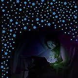 749 Pegatinas de Pared con Estrellas de Brillar en Oscuridad y Puntos Pegatinas de Estrellas Brillantes Pegatinas de Techo (Azul de Cielo)