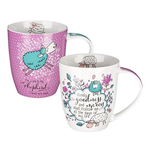 Psalm 23 Collection Inspirational Mugs - Set / 2