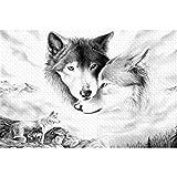 WACYDSD Puzzle 3D Puzzle 1000 Piezas DIY Animales Lobo Imagen Moderna Decoración para El Hogar para Sala De Estar